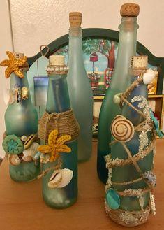 Sea themed invitation bottles