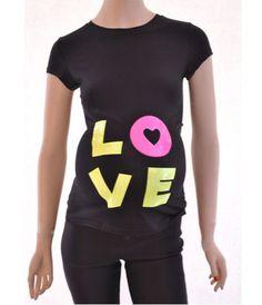 T-shirt humour femme enceinte, Love Du fluo et des paillettes pour la future maman ! #enceinte #maternité #tshirtfemmeenceinte