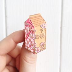 Kawaii Hanami Cherry Blossom Sakura Milk Copper Enamel Pin Source by beyourwings kawaii Jacket Pins, Disney Pins, Disneyland Pins, Cool Pins, Pin And Patches, Stickers, Pin Badges, Lapel Pins, Pin Collection