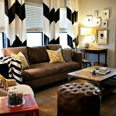 Love this room & diy curtains