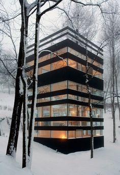Jimmy Cohrssen, http://jimmycohrssen.com/work/index.php?/maison/project-2/  #architecture #winter #snow