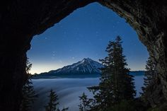 Cave near Mt Jefferson, which is located in Willamette National Forest, Oregon