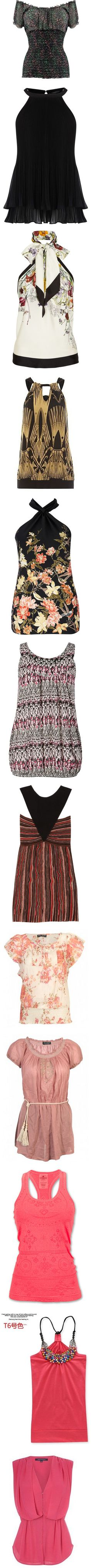 """""""LOVELY TOPS"""" by gustosamente ❤ liked on Polyvore"""
