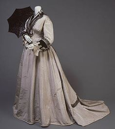 Dress by Field Leiter & Co, 1874-76 France, San Diego History Center