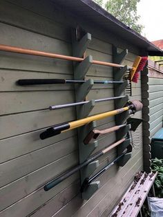 Garden Tool Rack: 4 Steps (with Pictures) #garagestorage