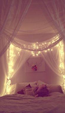 hemelbed met lichtjes