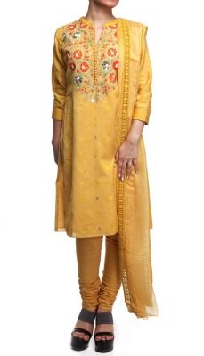 Multi Coloured Thread Embroidered Salwar Suit