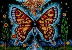 ガラス絵 アポロンの蝶