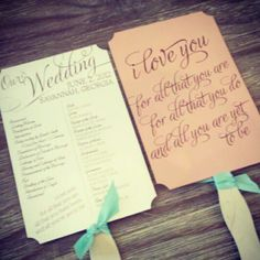 program fans, summer wedding   # Pin++ for Pinterest #