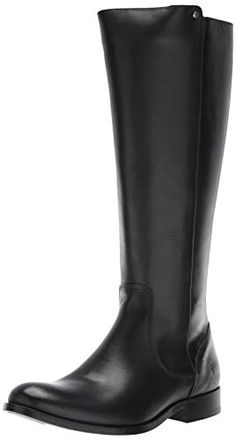 2f945fec8111 FRYE Womens Melissa Stud Back Zip Equestrian Boot Black Extended 11 M US --  You