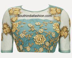 net saree blouse designs