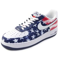 on sale f2ff7 2e101 NIKE AIR FORCE 1 LOW INDEPENDENCE DAY 488298-425 sneaker WHITE US 9.5