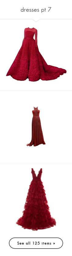 """""""dresses pt 7"""" by nikki-usmc92 ❤ liked on Polyvore featuring dresses, gowns, long dress, red evening gowns, red evening dresses, red dress, long red evening dress, long dresses, maxi dresses and vestidos"""