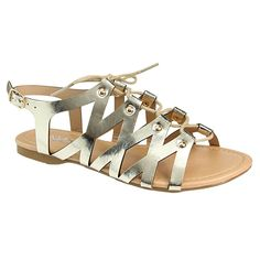 BELLA MARIE CHELSSI-10 Women's Lace Up Buckle Strap Gladiator Flat Sandals * Quickly view this special  product, click the image : Lace up sandals