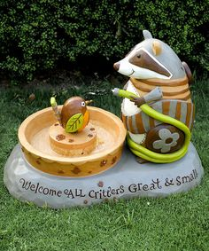 Another great find on #zulily! 'Welcome All Critters' Fountain #zulilyfinds