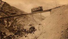 Tranvia de Granada a la Sierra, puente del Blanquillo, fotografo desconocido