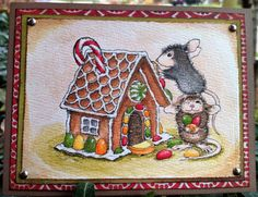 House Mouse Clear Stamps w/new BasicGrey Alpine Frost Copic, House Mouse Stamps, I Love House, Scrapbook Paper, Scrapbooking Ideas, All Holidays, Winter House, Cards For Friends, Christmas Cards