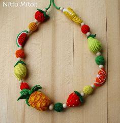 Fruit Nursing necklace  Sling Teething Babywearing от NittoMiton