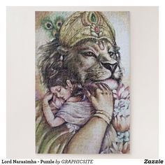 Lord Narasimha - Puzzle Custom Gift Boxes, Customized Gifts, Make Your Own Puzzle, Photo Memories, Acrylic Art, Custom Posters, High Quality Images, Decoration, Craft