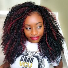 Crochet Braids with Bohemian by Freetress in color 1B/530. www.crochetbraidsbytwana.com