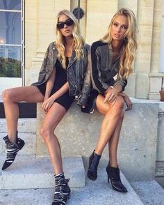 Elsa Hosk, Swedish model and Romee Strijd, Dutch model @ the Victoria's Secret Holiday Shoot 2016 Elsa Hosk, Fashion Models, Fashion Show, Fashion Bags, Fashion Fashion, Best Street Style, Vs Models, Victoria Secret Angels, Beach Wear