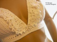 """Crochê e tricô da Fri, Fri´s crochet and tricot: Como fazer o cropped crochet Top """"Carolina"""" How to. Crochet Lingerie, Crochet Bra, Crochet Bikini Top, Crochet Woman, Crochet Clothes, Crochet Shorts, Top Crop Tejido En Crochet, Crochet Tank Tops, Crochet Bathing Suits"""