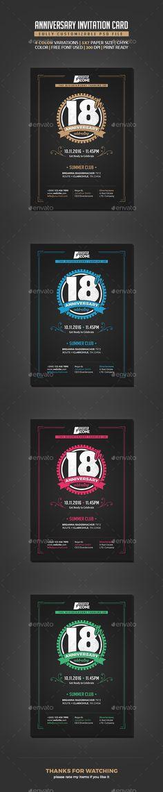 Anniversary Invitation Template - Modern Swirl Anniversary - anniversary invitation template