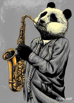 Art of Khairul Anam Jazz T Shirts, Panda Wallpapers, Fantasy Art Men, Bear Pictures, Most Beautiful Animals, Animal Heads, Pet Portraits, Animal Photography, Graphic Illustration