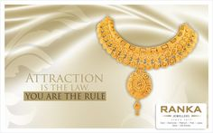 Be the one who stands out in a crowd with this amazingly attractive necklace from Ranka Jewellers.