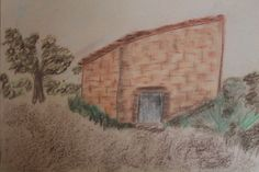 Spanish finca by Barbara Singleton, pastels.