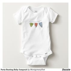 Party Bunting Baby Jumpsuit Baby Onesie