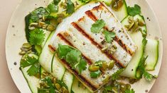 On the grill, this simple (and healthy!) halibut recipe is ready in 5 minutes, which means this is your new favorite weeknight fish dinner.