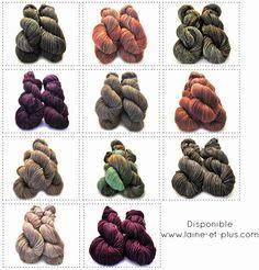 Elles sont maintenant disponible sur www.laine-et-plus.com