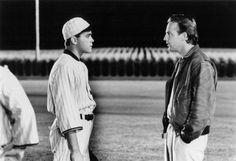 Kevin Costner and Ray Liotta in Field of Dreams (1989)