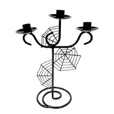 12 Inch Candle Holder Web Tier- Black