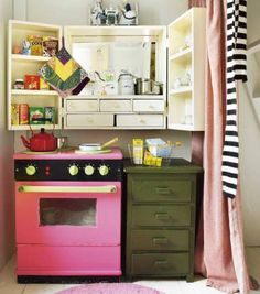 Homemade wooden Kitchen for children's play room