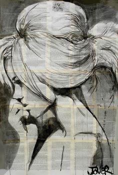 "Saatchi Online Artist: Loui Jover; Pen and Ink, 2013, Drawing ""lagoon"""