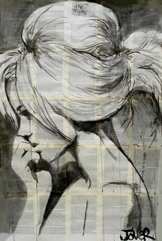 "Saatchi Online Artist: Loui Jover; Pen and Ink 2013 Drawing ""lagoon"""