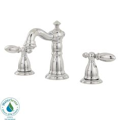 Delta Victorian 8 in. Widespread 2-Handle High-Arc Bathroom Faucet in Chrome-3555LF-216 at The Home Depot