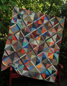 Lattice Quilt for David. Another easy quilt and I have all the different plaids. Put this one on the list to make.