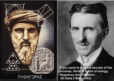 ancientknowledge | Pythagoras and Nikola Tesla. Image credit: MessageToEagle.com