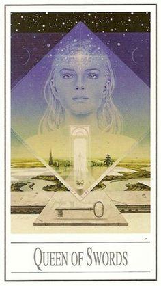 La reine d'épées - Tarot Ananda par Ananda Kurt Pilz