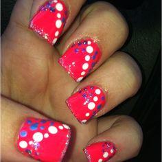 My latest nail design that I got tonight!