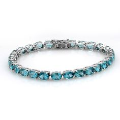Liquidation Channel | Paraiba Apatite Bracelet in Platinum Overlay Sterling Silver (Nickel Free)