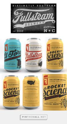American Progress Brand Identity & Packaging System | Fullsteam Brewery | Helms Workshop  http://helmsworkshop.com/work-and-play/project/98/