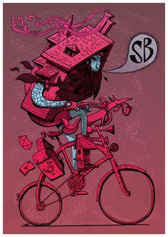 Shifter Bikes Illustration   by This Pencil (Gerhard van Wyk)