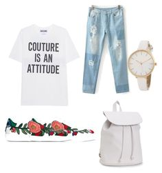 """🇸🇰🇸🇰🇸🇰"" by bebarevay on Polyvore featuring Moschino, Gucci and Aéropostale"