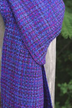 Handwoven Tencel Scarf in Shades of Blue and by islandhandwovens, $80.00