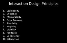 Interaction Design Principles