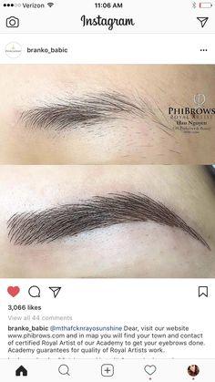 Eyebrow Makeup Tips, Permanent Makeup Eyebrows, Eye Makeup, Mircoblading Eyebrows, Eyebrow Design, Phi Brows, Cosmetic Tattoo, Brow Shaping, Perfect Brows